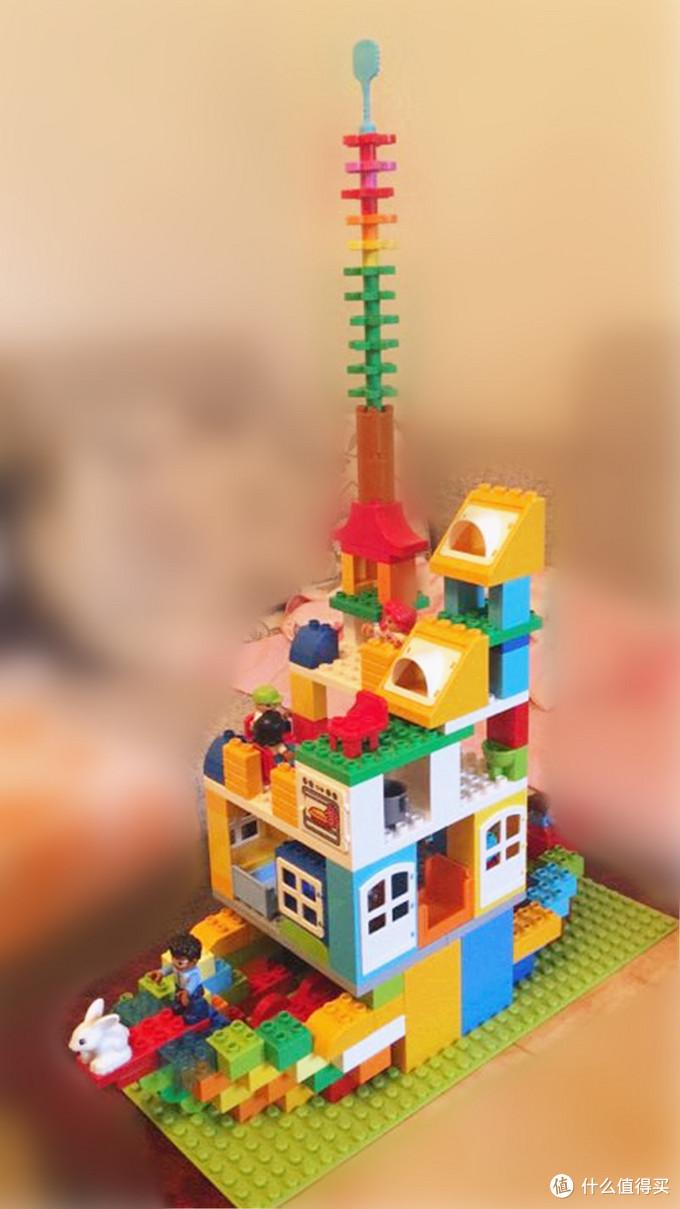 薅日亚的羊毛:LEGO 乐高 B&M Duplo创意得宝系列 10580 豪华乐趣盒 开箱试玩,附老顽童的作品N副