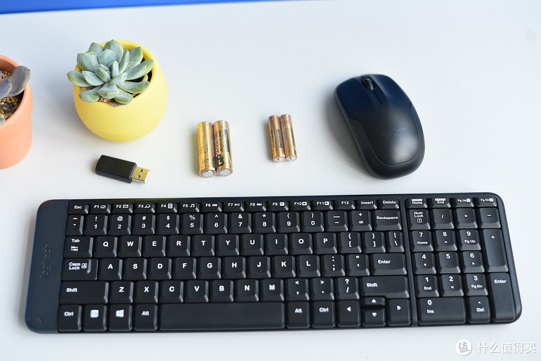用大键盘打字才舒服,经典 Logitech 罗技 MK220 无线光电键鼠套装
