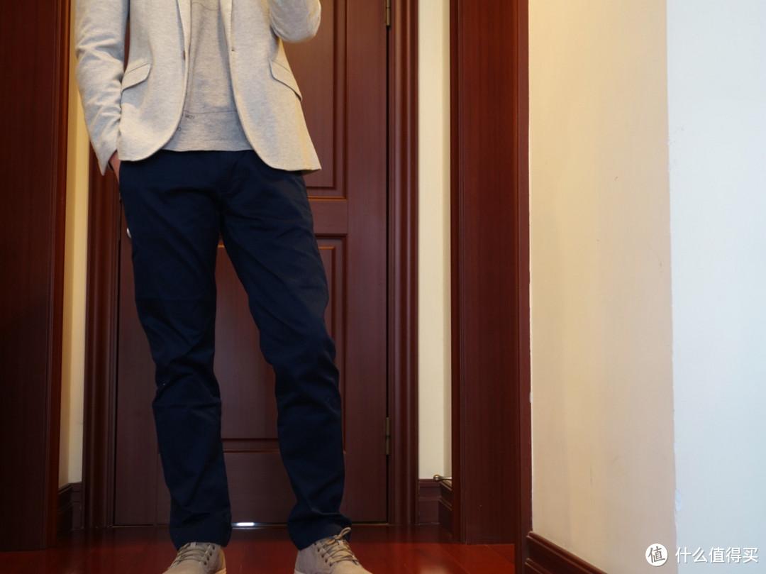 J.CREW男士深蓝色卡其休闲裤