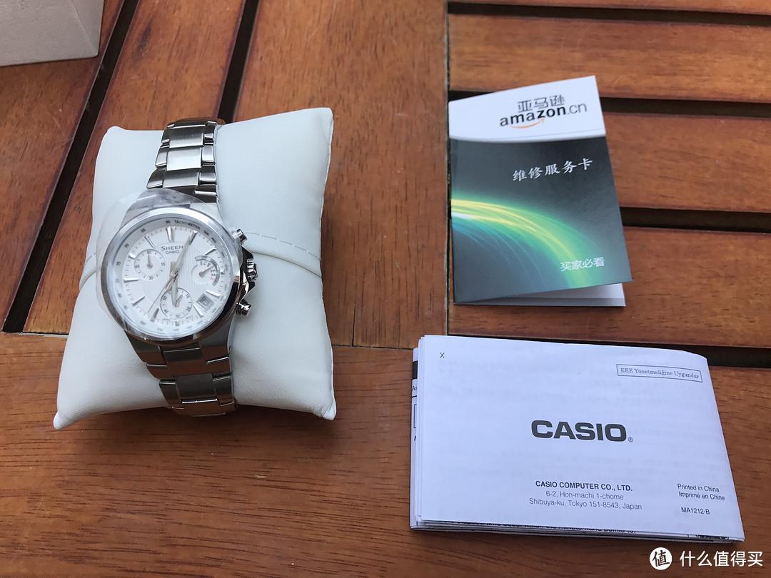 CASIO 卡西欧 SHEEN系列石英女士手表 SHE-5019D-7ADR体验