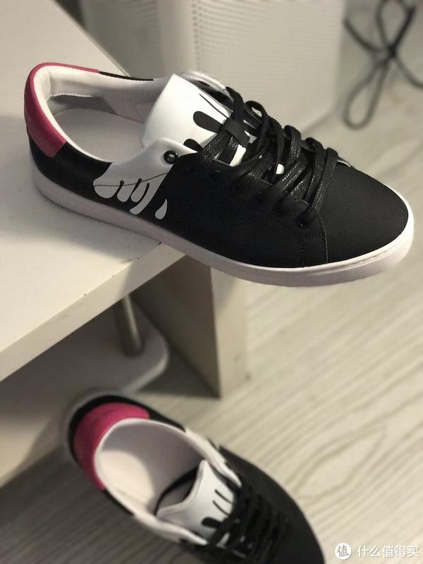 Burberry 博柏利 斑点图案皮革运动鞋 开箱分享