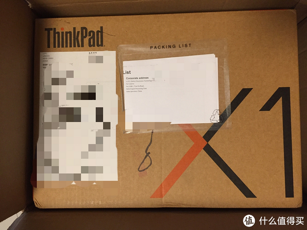#原创新人#联想八通道海淘ThinkPad X1 Carbon开箱及过程
