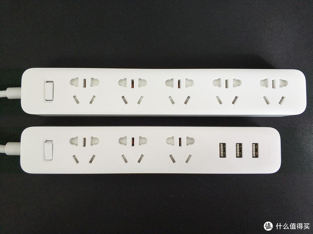 #晒单大赛#CHING MI 青米 新国标 3位+3口USB正反插 1.8米总控插座 拆解对比MI 小米 5位插线板