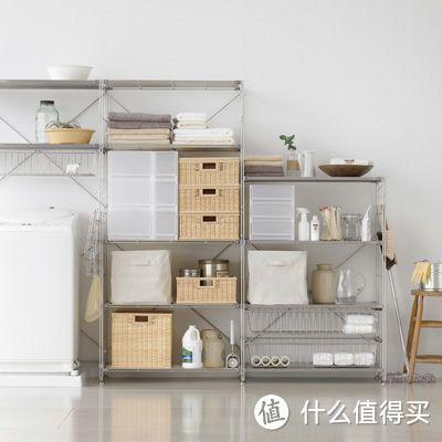 不锈钢色适合厨房和浴室收纳