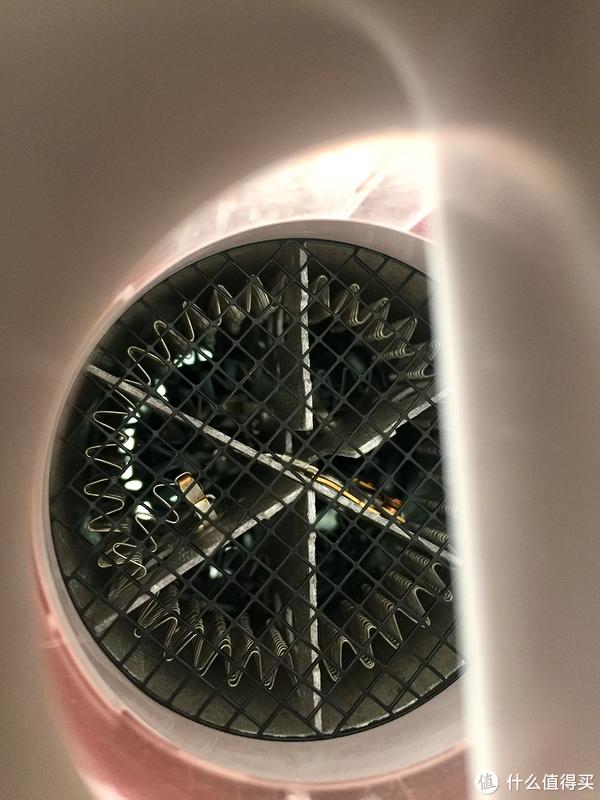 松下,透过盖子也是可以直视一环一环的电阻丝