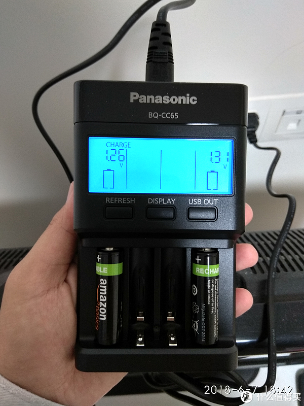 Panasonic 松下 BQ-CC65 镍氢快速充电器 首秀