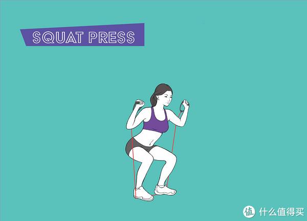 弹力绳深蹲 锻炼腿部