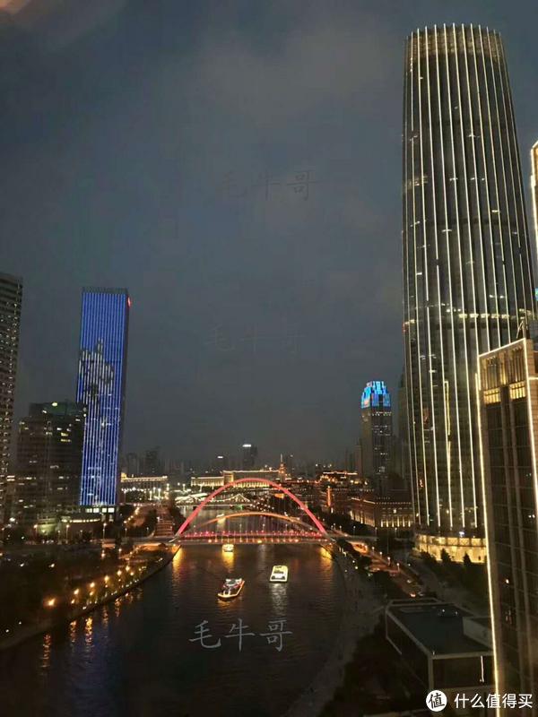 天津瑞吉酒店豪华房直面海河河景