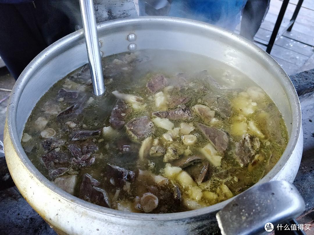 羊杂汤很鲜