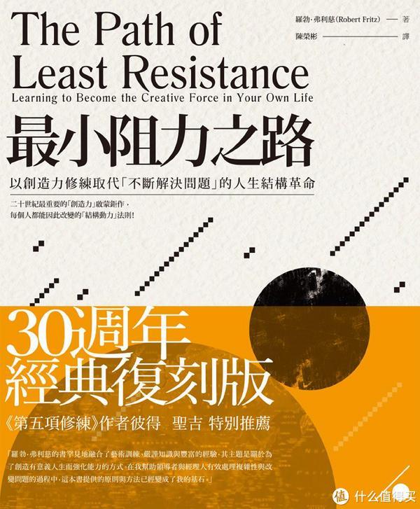《最小阻力之路》,一本经典的创造力修炼宝典,目前只有台湾繁体版,简体版预计年底才出版。注意不是那个蹭名字的寨版《阻力最小之路》