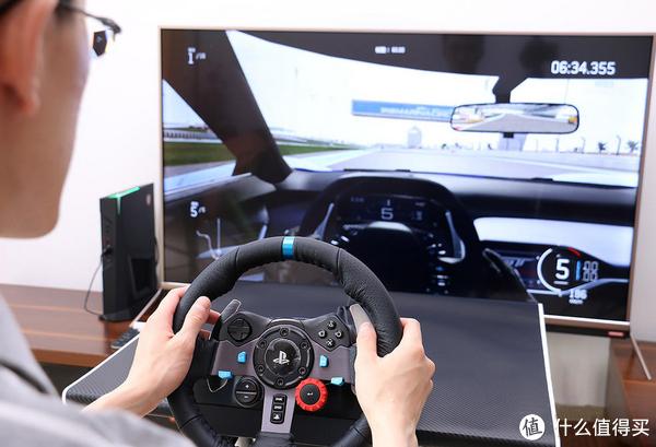 ps4+罗技方向盘+大屏也能提供不错的赛车感受