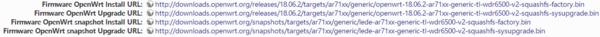 OpenWrt Install为稳定版,OpenWrt snapshot Install为先行版,Upgrade是升级补丁