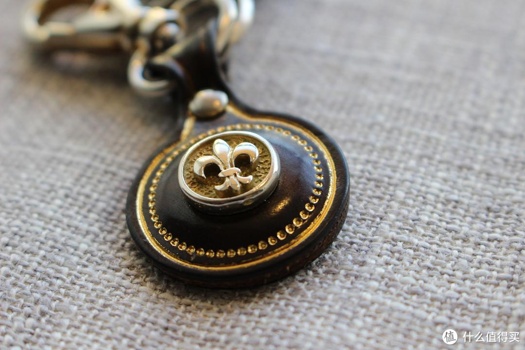 皮质印花钥匙挂件