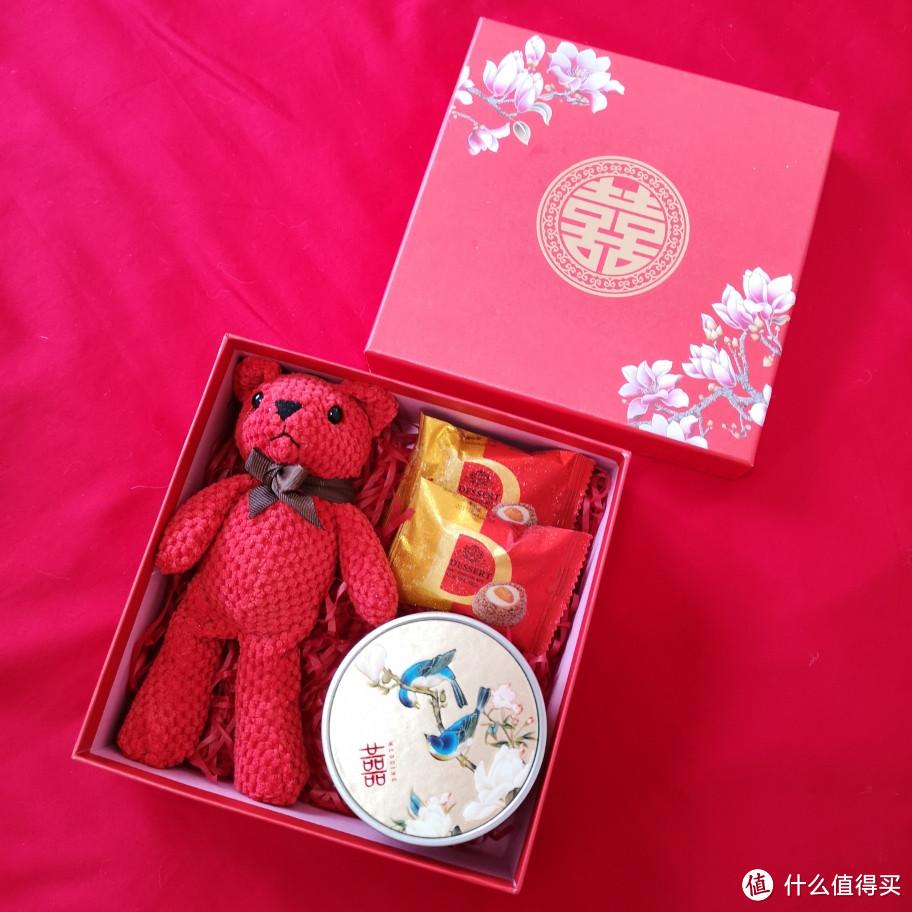 新中式婚礼伴手礼,结婚喜糖礼盒套装