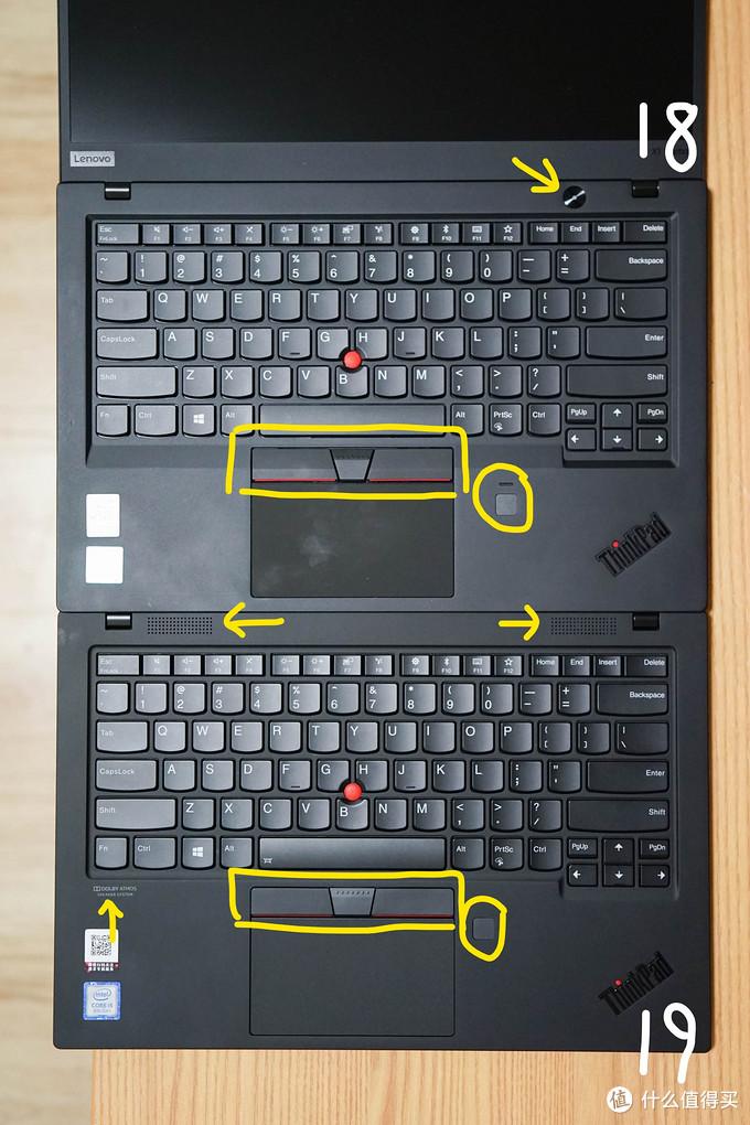 把1.8mm键程还给我!全站首个ThinkPad X1 Carbon 2019、2018款详细对比