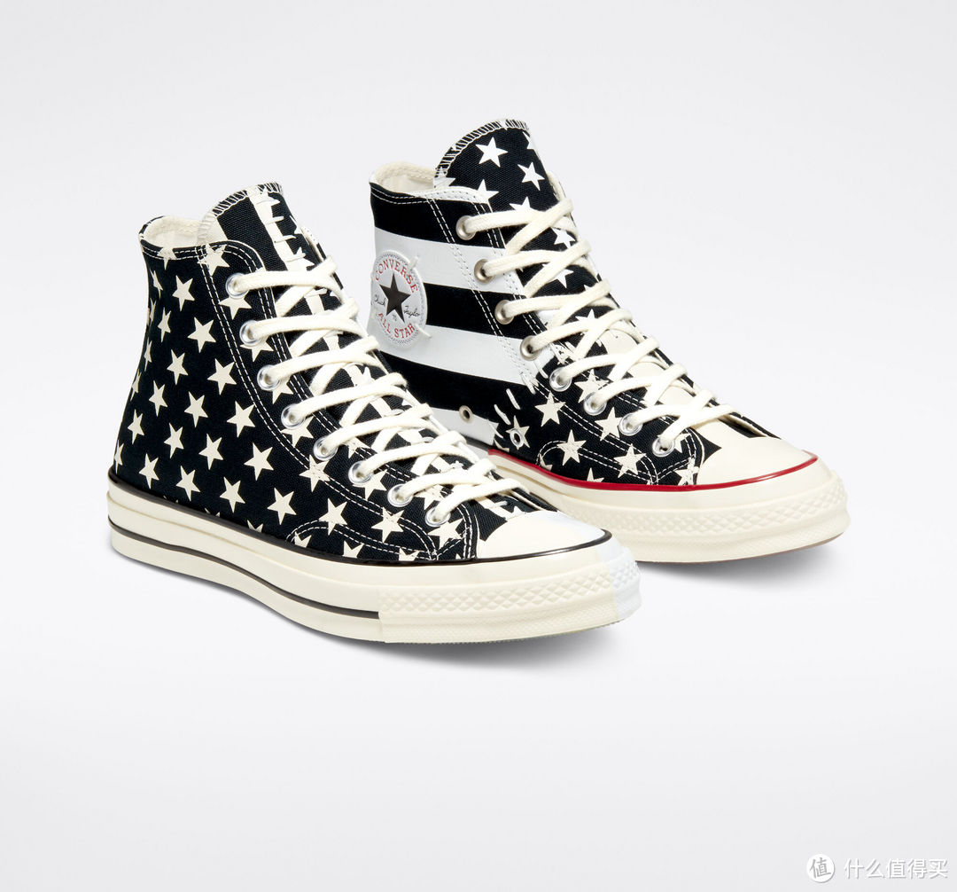 星条旗+解构主义:CONVERSE 匡威 推出 解构版 Chuck 70 All Star 帆布鞋