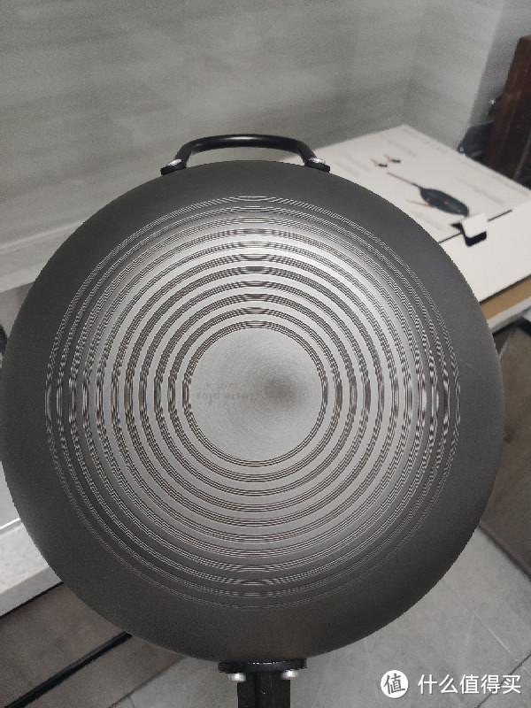 悦味32cm无涂层炒锅站立式锅盖版,嗮单分享,内强迫症修复福音