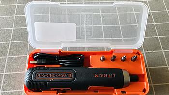 每个男人都应该拥有的小工具———百得 BD40KA-A9 smart push 4V 锂电螺丝刀 开箱