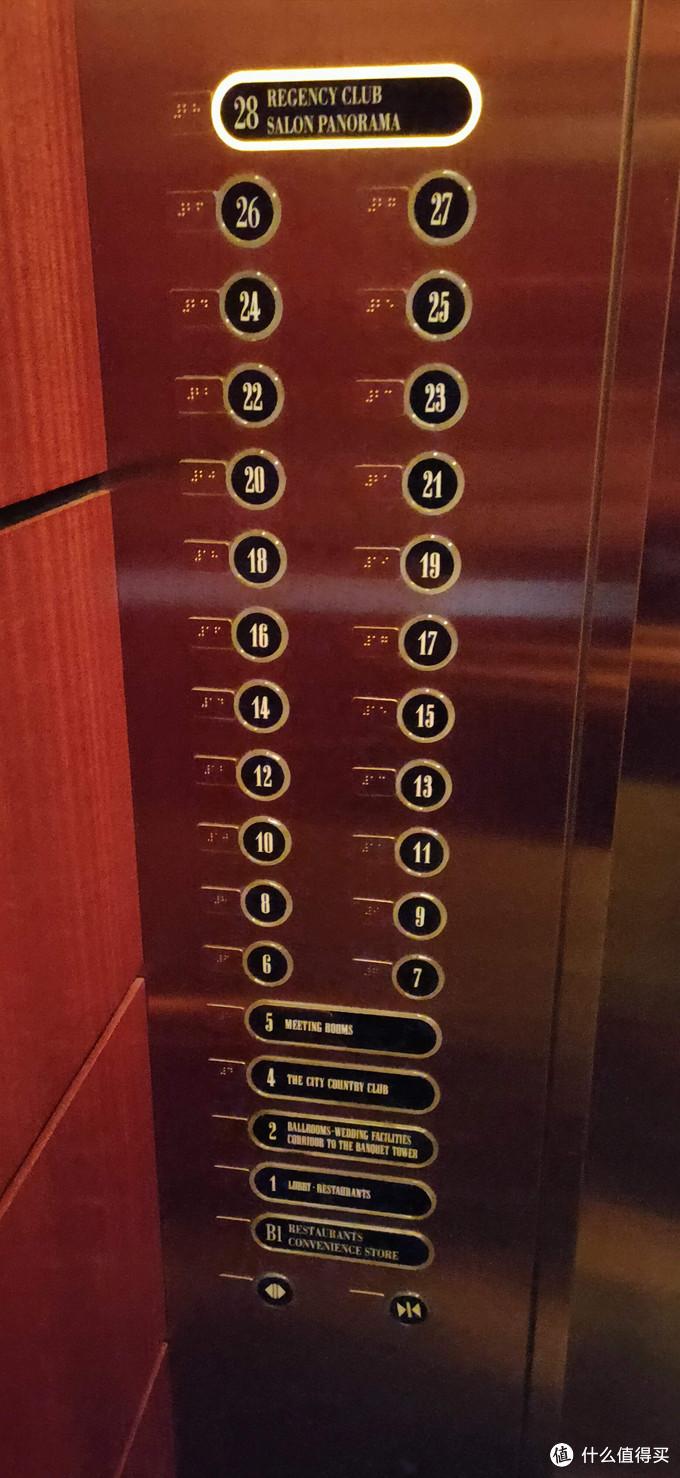 有点复古感的电梯按键