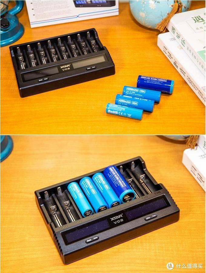 多槽位的智能锂离子/镍氢电池充电器——XTAR VC8轻体验