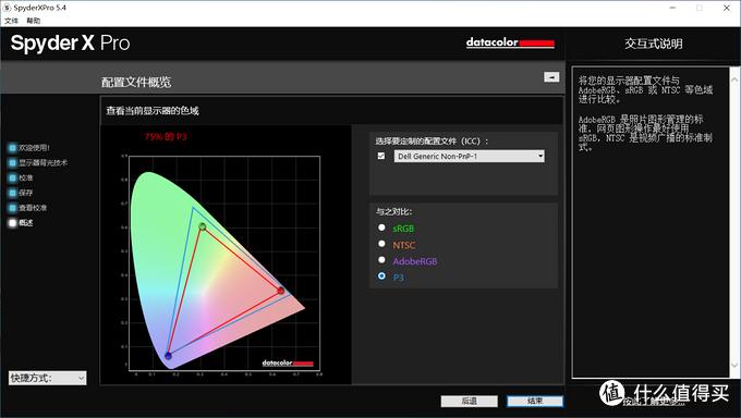 得到4组色域数据和示意图
