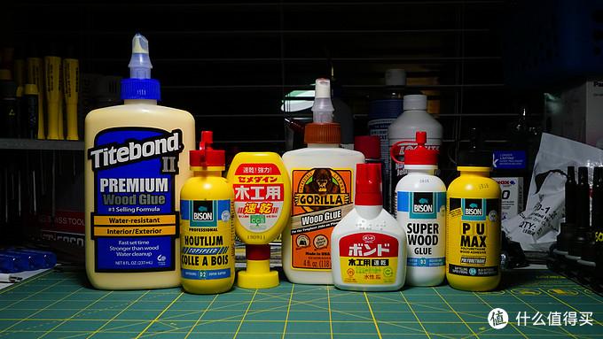 装修/DIY木工用的几款进口木工胶的强度测试 - 美国太棒,大猩猩,荷兰野牛,日本小西和施敏打硬