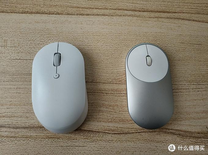 两款鼠标的正面