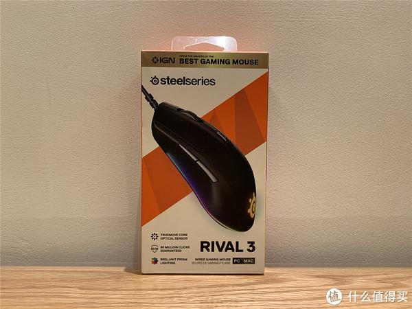 赛睿Rival 3鼠标外包装展示1