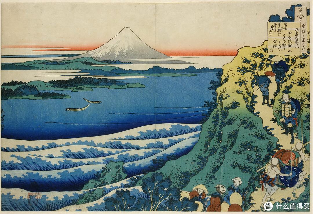百人一首系列中的富士山(百人一首:汇集了日本七百年100首和歌,是最广为流传的和歌集。)