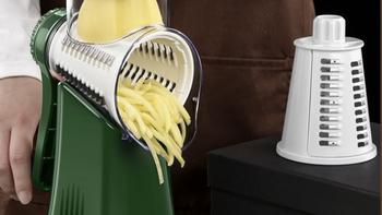 德国博曼斯  多功能切菜器滚筒刨丝器试用