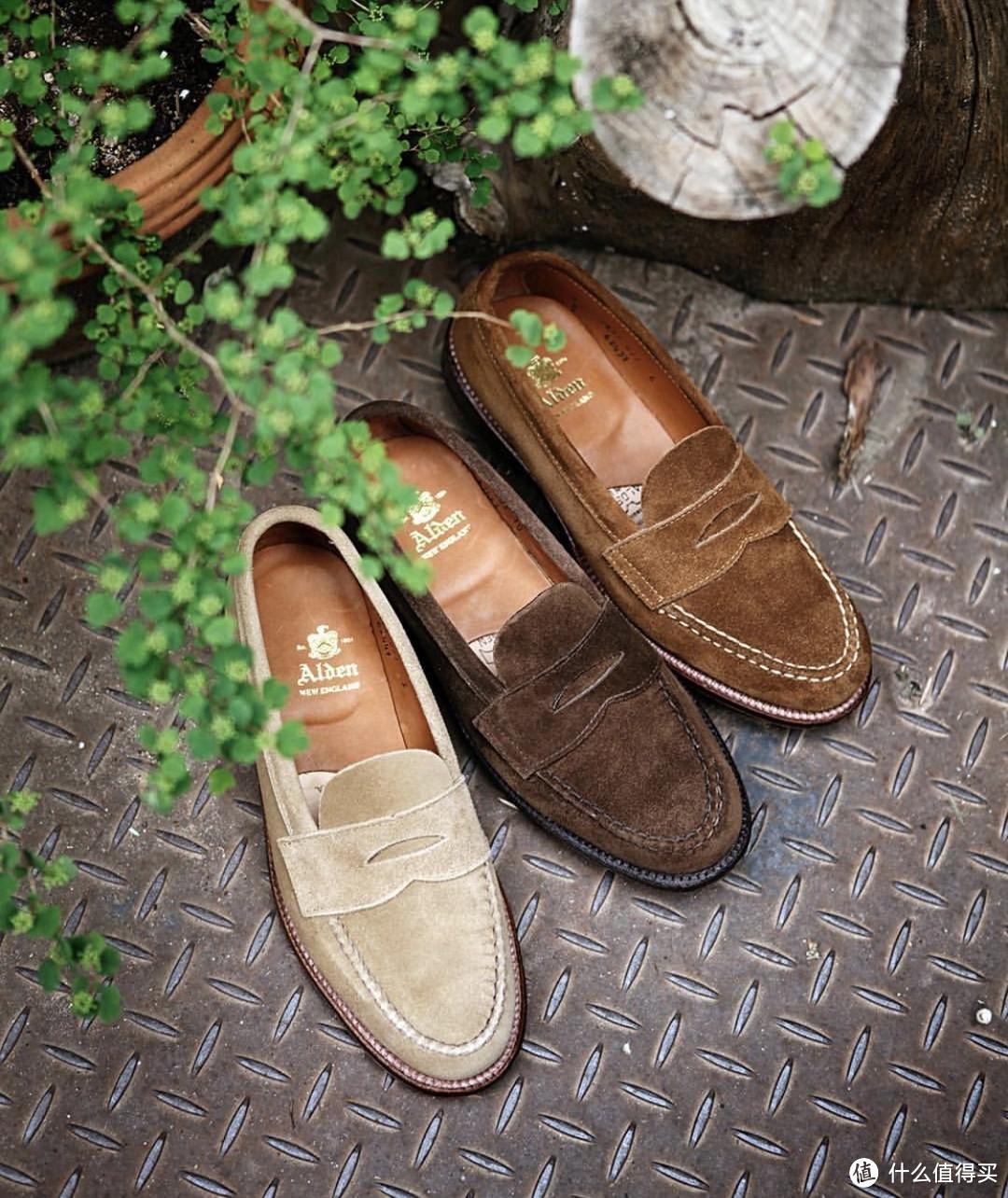alden 翻毛 penny loafer