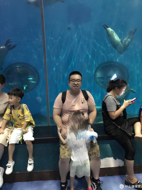 192斤的我在青岛陪孩子玩