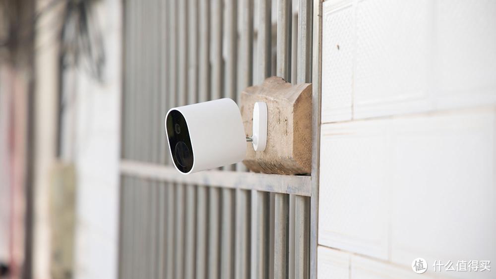 带电池的户外摄像机,小米这款室外摄像机没插座也能用