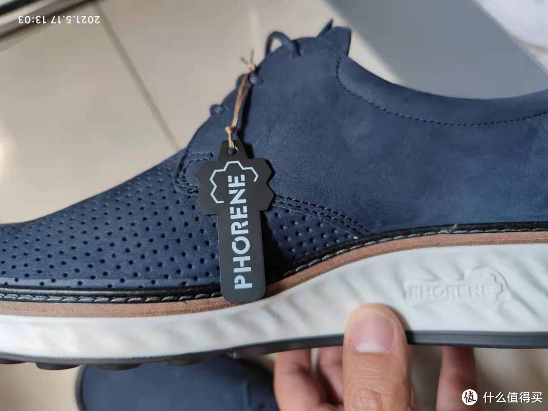 类似于运动鞋,复合大底,牛津大底+phorene材料中底+真皮沿条装饰