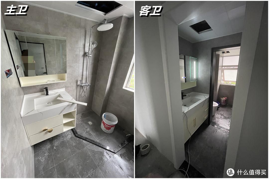 装好的浴室柜和瓷砖颜色不搭?我花100元改色,拯救浴室柜