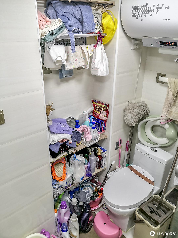 以前住的房子:因为储物空间不够,自己也不怎么收拾,慢慢的就拥挤不堪。