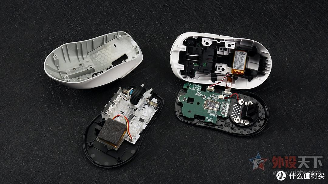 冰豹Kone Pro AIR与罗技G PRO X SUPERLIGHT拆解对比