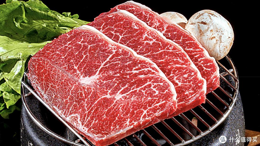 万馨沃牛M9+和牛板腱,切成薄片,烤肉专用食材