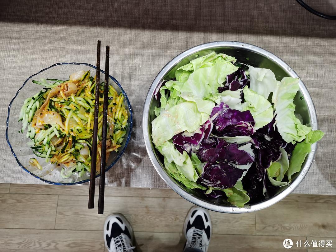 魔芋凉皮配蔬菜沙拉