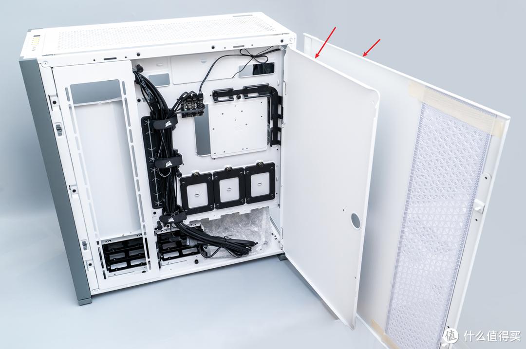 全塔机箱真的大,温度降低20度:美商海盗船7000D Airflow+H170i 水冷 体验测评