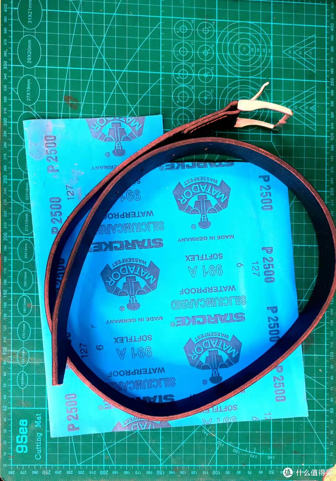 马缰革针扣皮带的制作