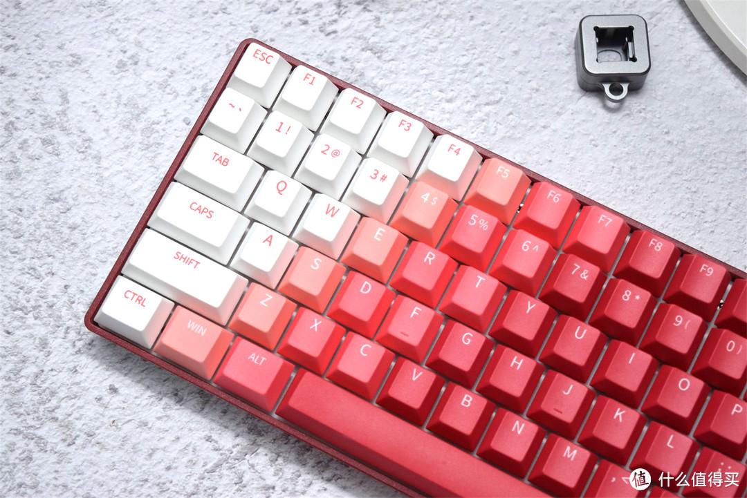 烈焰燃烧不尽,达尔优A84三模烈焰红轴机械键盘分享