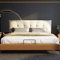 【新品】喜临门官方旗舰店正品意式现代轻奢真皮实木软床主卧床安娜贝斯+伊诺